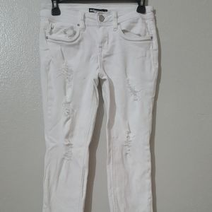 DOLLHOUSE WHITE DISTRESSED JEANS SIZE 5